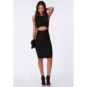 Missguided Dresses - Black Midi Dress